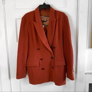 Vintage Mondi Double Breasted Peacoat Brick Red 8